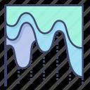 flow, graph, history, presentation icon