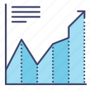 chart, diagram, growth, increase icon