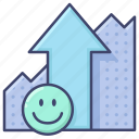 growth, increase, presentation, profit icon