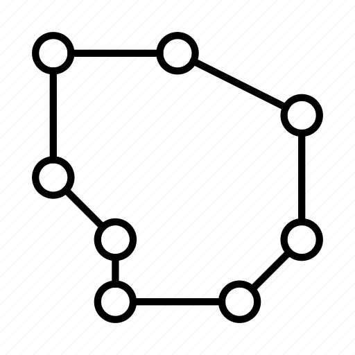 chart, dotted, graph, plot, radar, radar plot icon