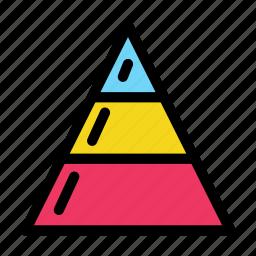 chart, diagram, pyramid icon