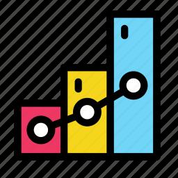 bar, chart, complex, diagram, line icon
