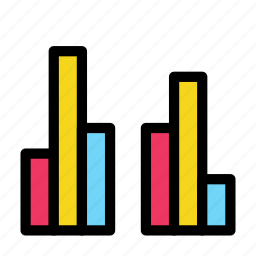 bar, chart, data, diagram, group icon