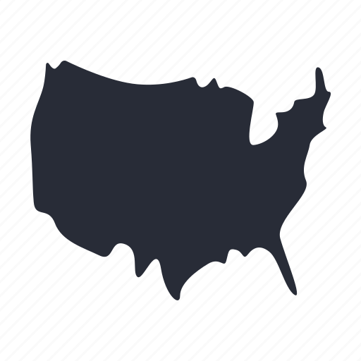 america, chart, geography, heat map, infographic, map, usa icon