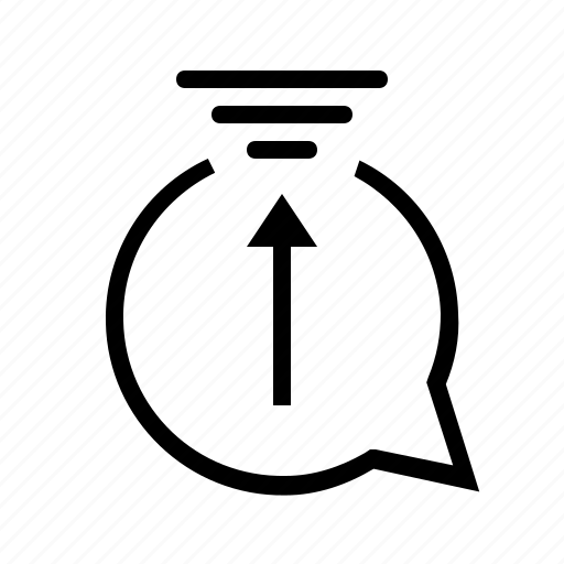 Arrow, chat, message, up icon - Download on Iconfinder