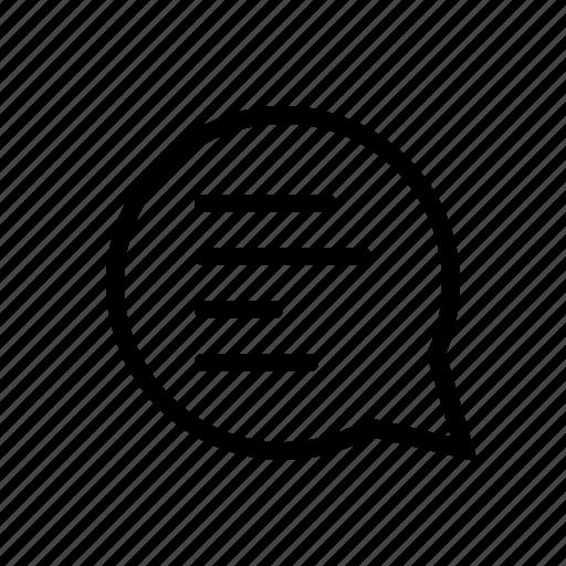 chat, comment, list, message icon