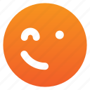 chat, emoji, smile icon