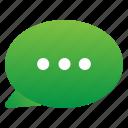 chat, menu, option icon