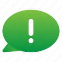 chat, coution, warning icon