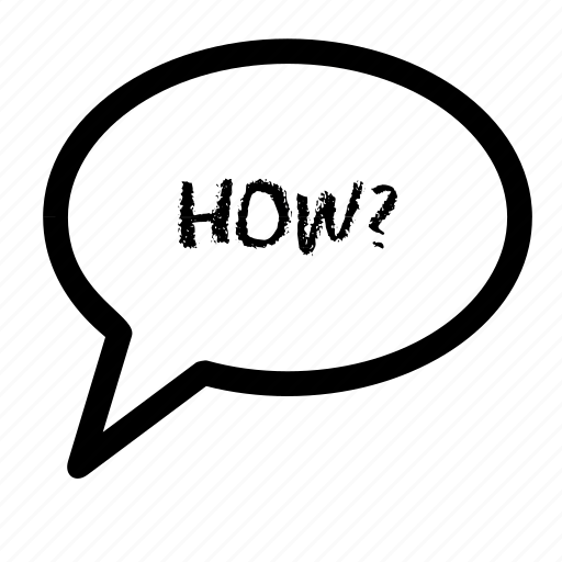 bubble, chat, how, question, speech, talk, words icon