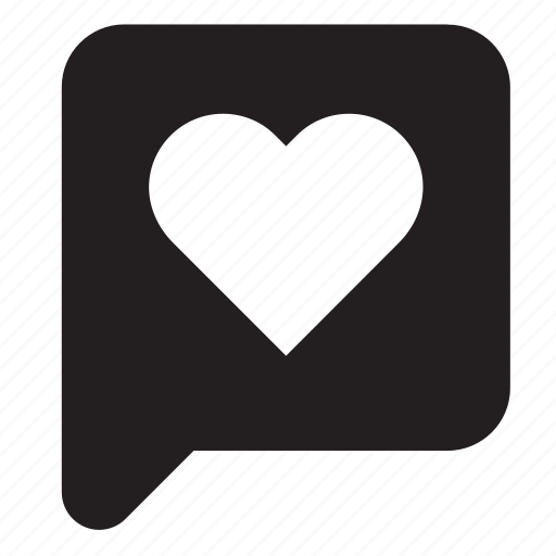 balloon, bubble, chat, heart, love, speech, talk icon