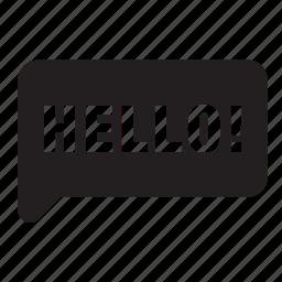 balloon, bubble, chat, conversation, hello, speech, talk icon