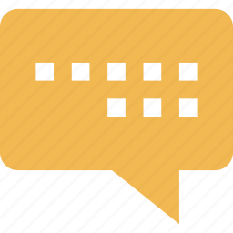 chat, conversation, sms, text icon