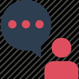 bubble, instant, messaging, online, pop, talk, text icon