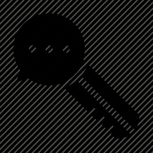 key, message, privacy icon