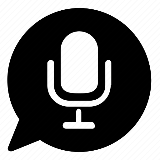 communication, message, voice icon