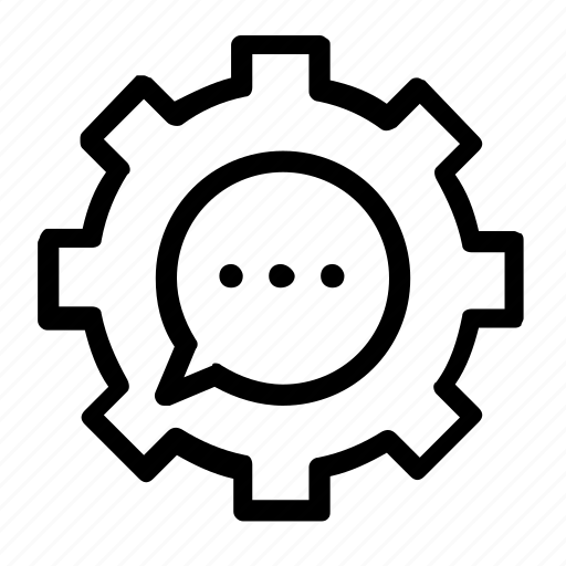 chat, settings icon
