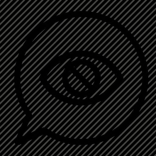 block, chat icon
