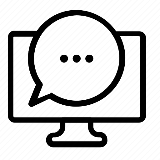chat, computer icon