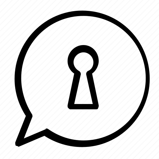chat, lock, message icon