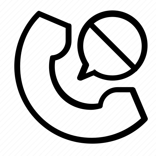block, call icon
