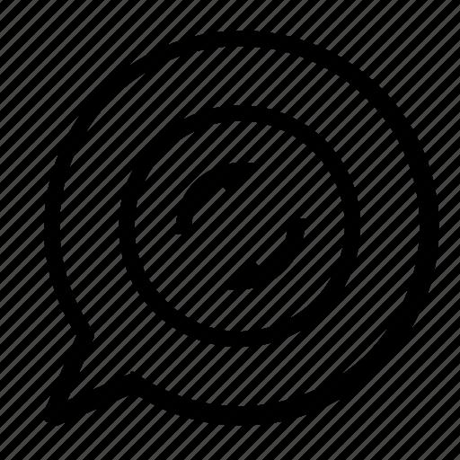 chat, refresh icon