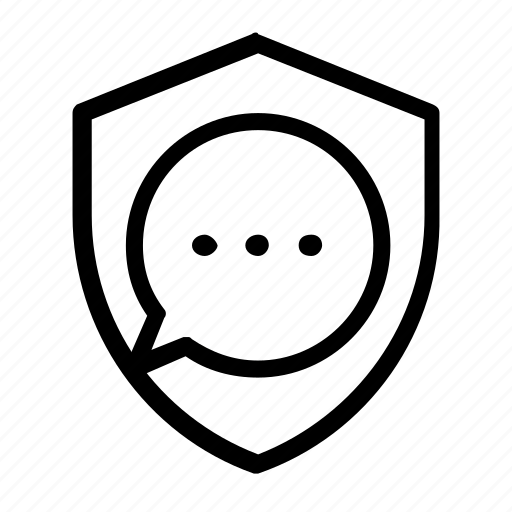 chat, security icon