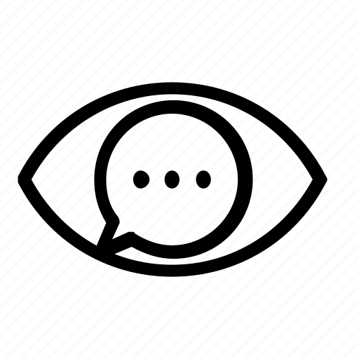 chat, view, visibility icon