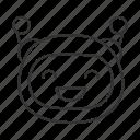 bot, chatbot, emoji, emoticon, robot, smiling, cheerful