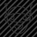 android, chat bot, chatbot, head, laughing, robot, robotics