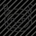 chat bot, chatbot, laughing, robot, bot, smiling, happy