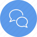 bubble, chat, sign, speech, talk icon