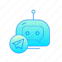 bot, chatbot, internet, messenger, robot icon