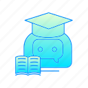 bot, chatbot, internet, robot, studies icon