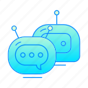 bot, chat, chatbot, internet, robot icon
