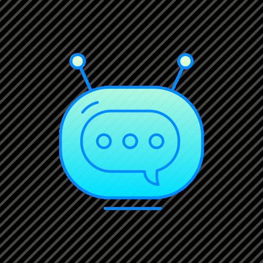 bot, chatbot, internet, robot icon