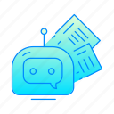 bot, chatbot, internet, news, robot icon