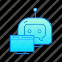 bot, browser, chatbot, internet, robot icon