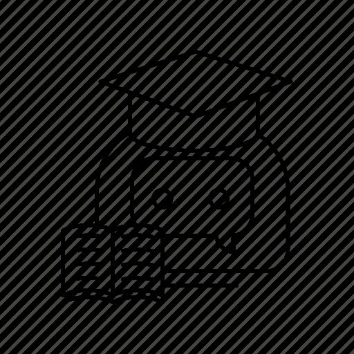 bot, chatbot, studies icon