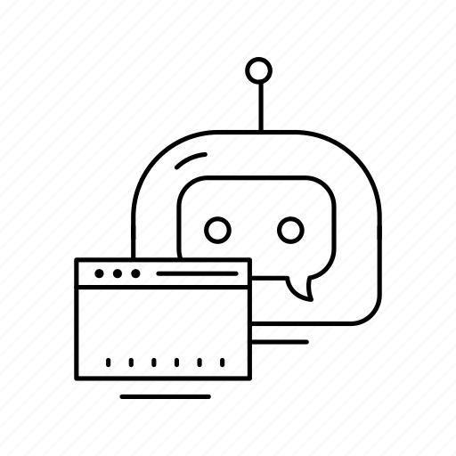 bot, browser, chatbot, robot icon