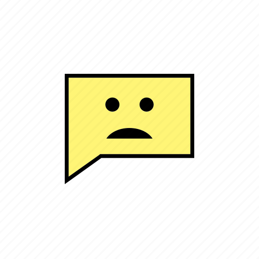 chat, conversation, message, sad, talk icon