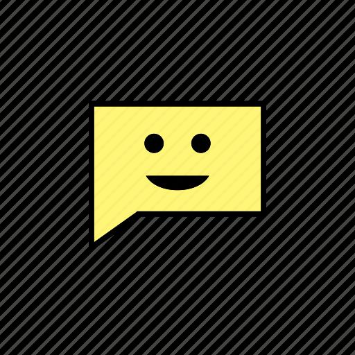chat, conversation, message, smile, talk icon