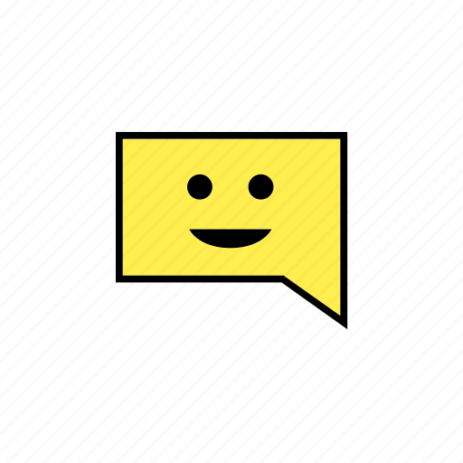 answer, chat, conversation, message, smile, talk icon