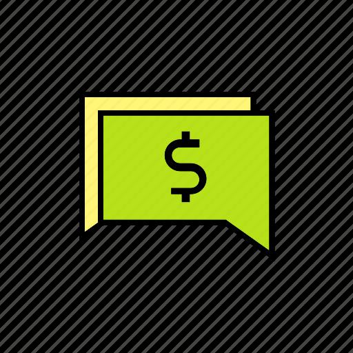 chat, conversation, message, money, talk icon