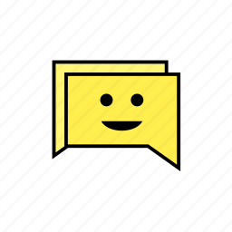 chat, conversation, message, smile, talk icon