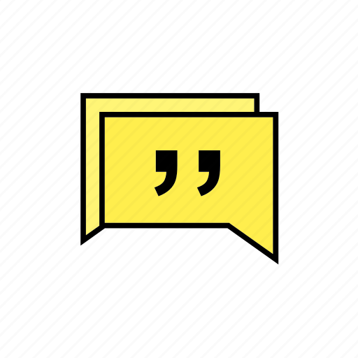 chat, conversation, message, quote, talk icon