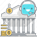 banking, chat bot, finance, message, robot, support, virtual assistant