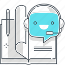 book, chat bot, deep learning, machine, robot, support, virtual assistant