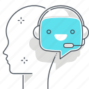 artificial intelligence, chat bot, deep learning, face, message, robot, support