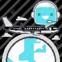 chat bot, message, robot, speech, support, tourism, travel